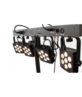 ATOMIC4FORDJ - SET LUCI 4 FARI A LED DMX PLS5 - NUOVA VERSIONE ULTRA COMPATTA!!!