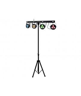 ATOMIC4FORDJ - SET LUCI 4 FARI A LED DMX PLS4 SET - LED DA 9W  + STROBO - CONTROLLO WIRELESS!!!!