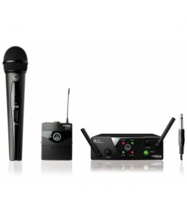 AKG WMS 40 MINI2 DUAL MIX VOCAL/INSTR - MICROFONO + BODYPACK STRUMENTO WIRELESS