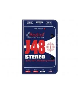 RADIAL J48 STEREO - DIRECT BOX ATTIVA con Phantom